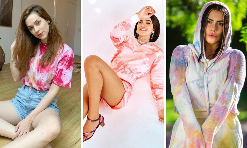 Famosas apostam em tie-dye (Fotos: Instagram/Reprodução)