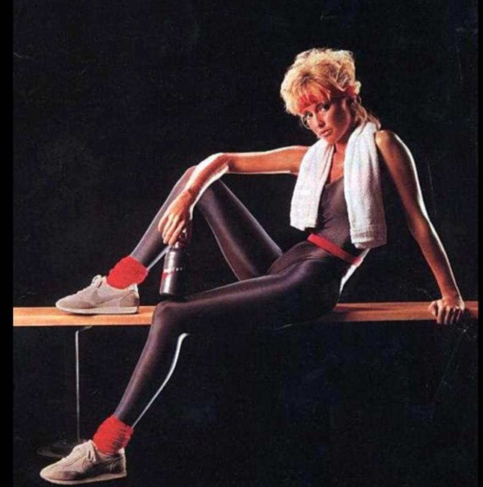 Moda fitness anos 1980 para ter aparência saudável (Reprodução/Pinterest)