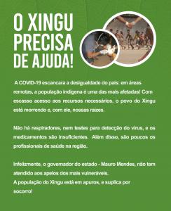 Apelo de ajuda ao Xingu