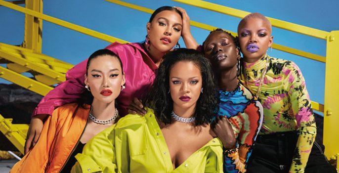 Beauty: Sato, Costanza e Lud festejam marca de Rihanna no país