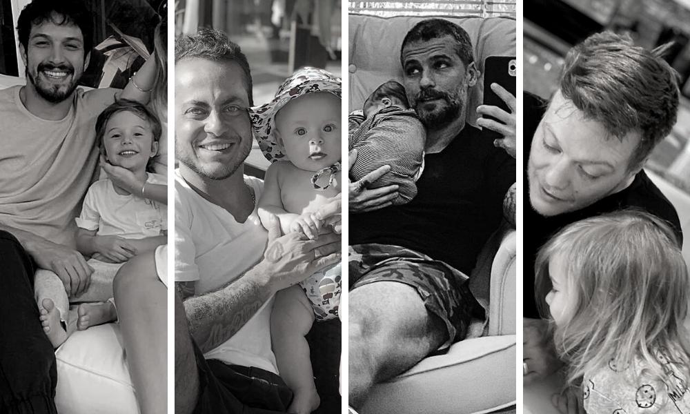 Dia dos Pais: Rômulo Estrela, Thammy, Gagliasso e Teló (Fotos: Reprodução/Instagram)