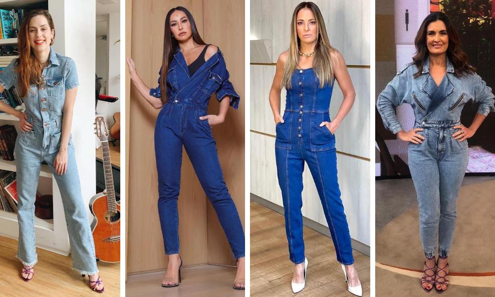 Famosas com macacão jeans (Fotos: Reprodução/Instagram)