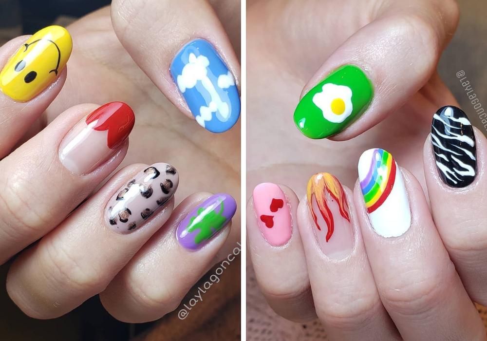 Unhas da Bruna Marquezine (Foto: Reprodução/Instagram/@laylagoncalvesnails)