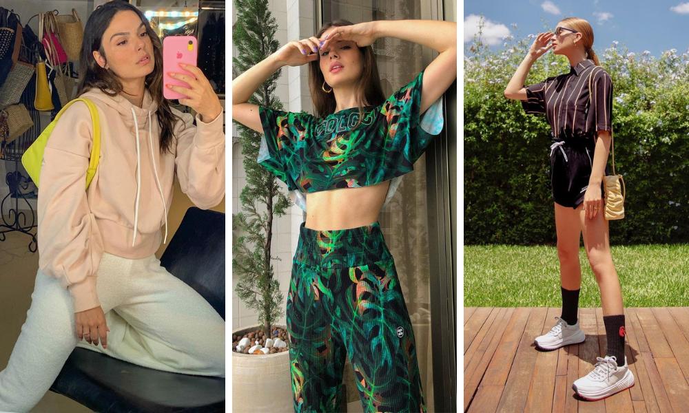 Famosas vestem look comfy (Fotos: Instagram/Reprodução)