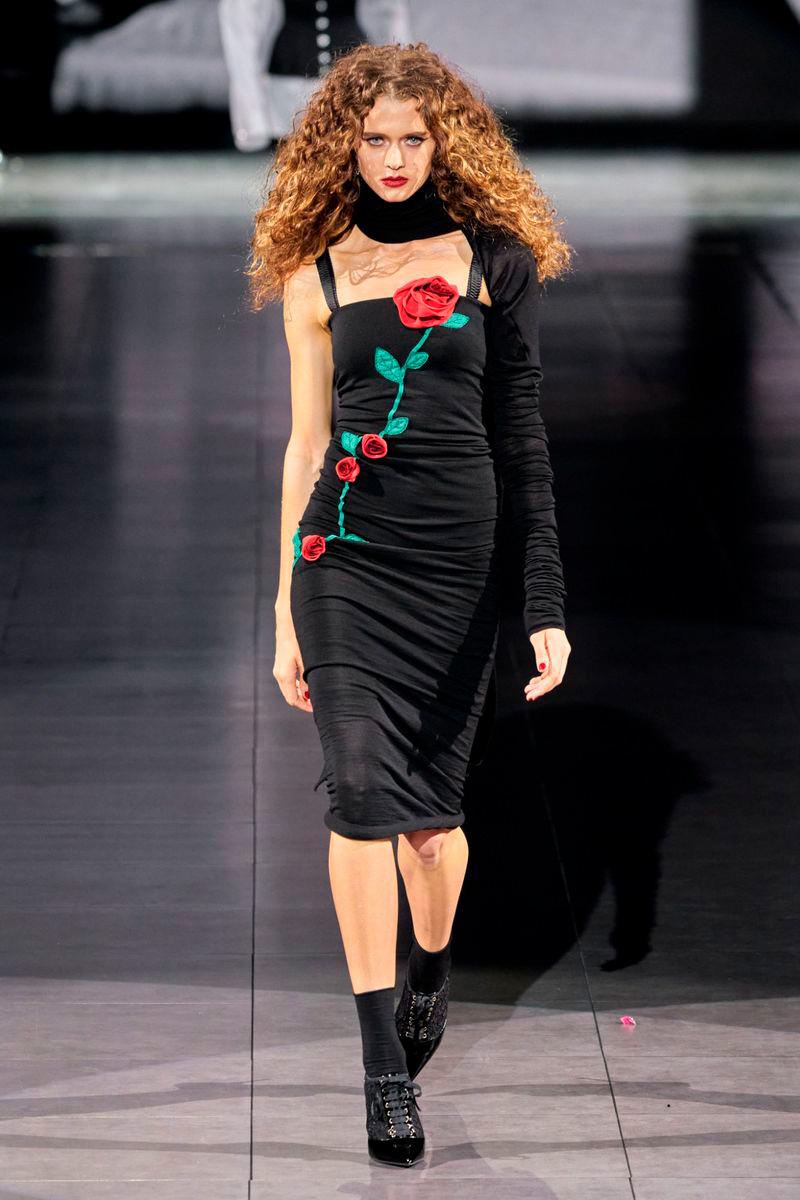 Modelo Natália Machado no desfile da Dolce & Gabbana (Foto: Divulgação/Way Model)