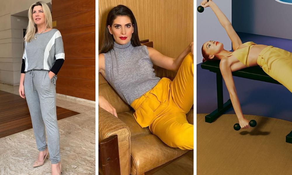 Famosas vestem looks com as cores escolhidas pela Pantone para 2021 (Fotos: Instagram/Reprodução)