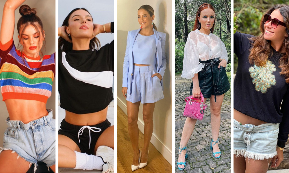Famosas mostram shorts estilosos (Foto: Instagram/Reprodução)