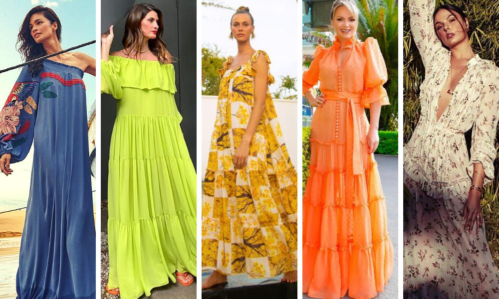 Famosas com vestidos tendência (Fotos: Divulgação/Reprodução/Instagram)