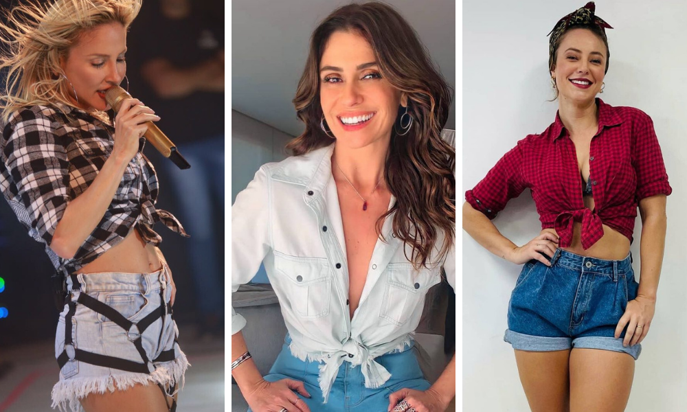 Claudia Leitte, Gio Antonelli e Paolla Oliveira (Fotos: Reprodução/Instagram)