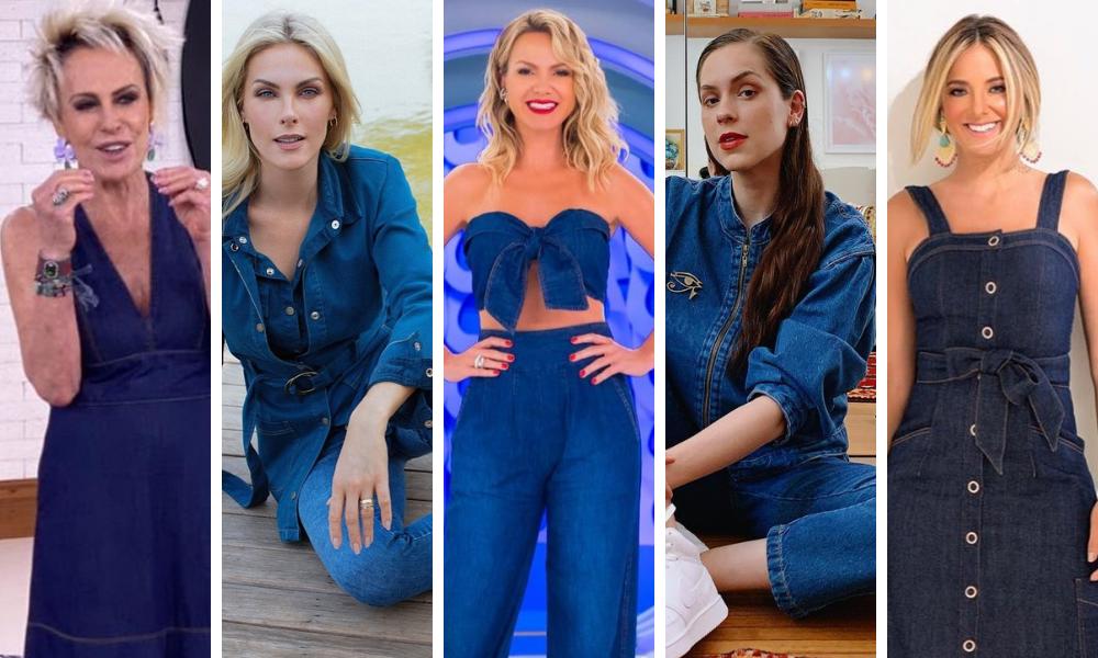 Famosas apostam looks em blue jeans (Fotos: Reprodução/Instagram)