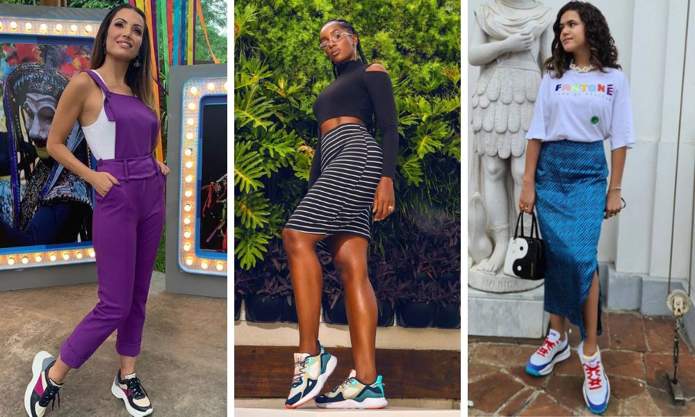 """Famosas usam """"tênis feio"""" (Fotos: Instagram/Reprodução)"""