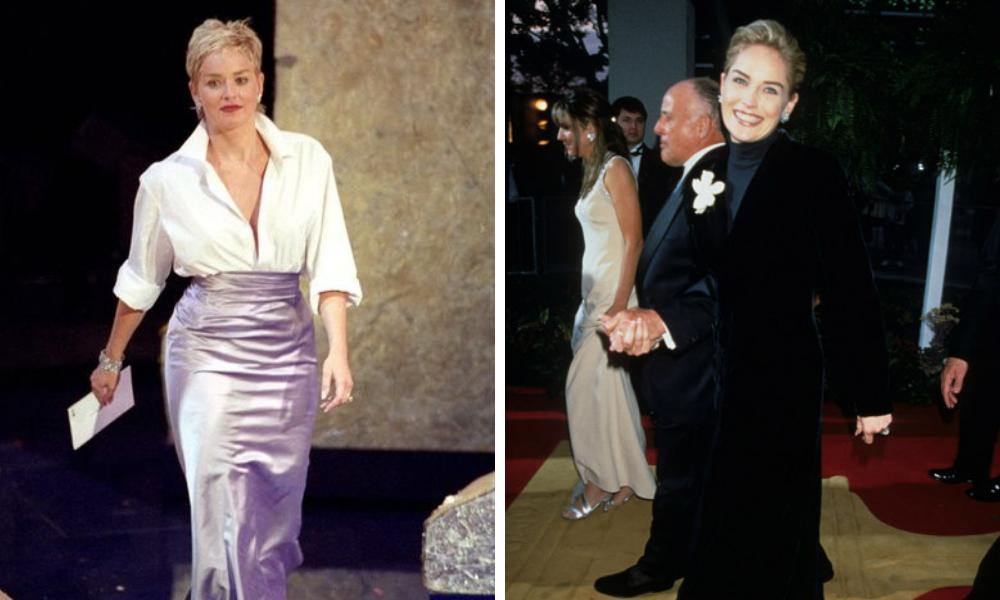 Sharon Stone de GAP no Oscar (Fotos:: Reprodução)