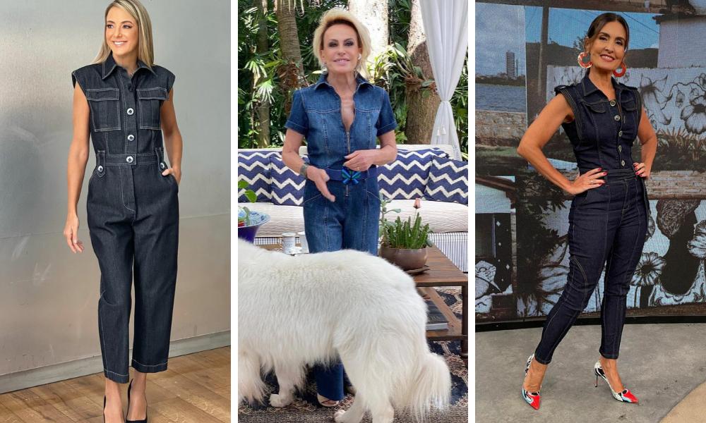 Famosas vestem macacão jeans (Fotos: Instagram/Reprodução)