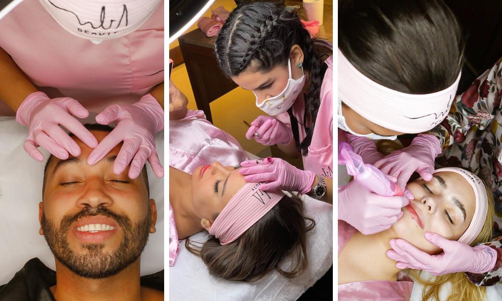 Brothers fazem tratamento estético (Foto: Grupo Natalia Beauty/Divulgação)