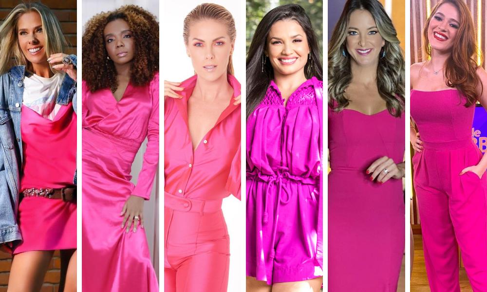 Famosas de pink Juliette (Foto: João Cotta/Divulgação/Rede Globo/Reprodução/Instagram)