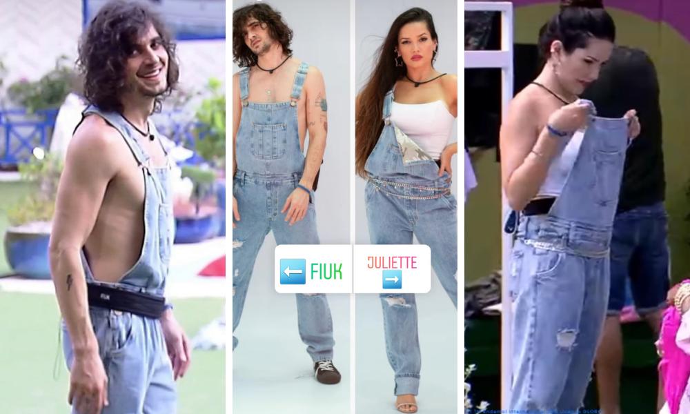 Fiuk e Juliette no BBB21 (Fotos: @cea_brasil/Instagram/Reprodução – ©️ 2020 TM Endemol Shine Group B.V sob licença Globo)