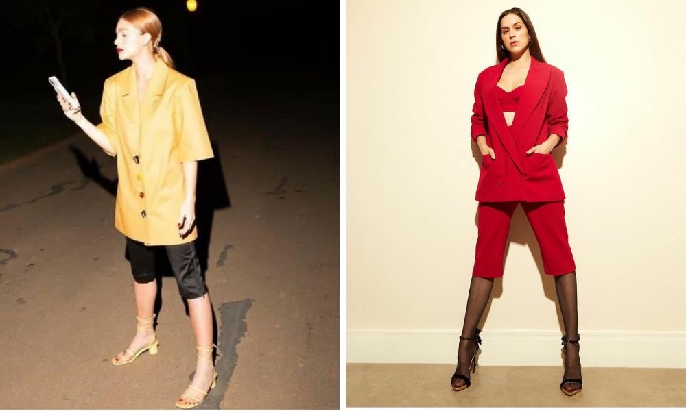 Marina Ruy Barbosa e Sophia Abrahão de calça corsário (Foto: Instagram/Reprodução)