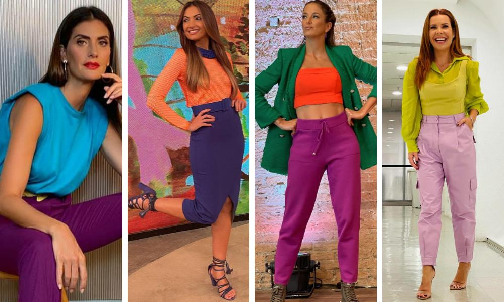 Famosas vestem color blocking (Foto: Instagram/Reprodução)