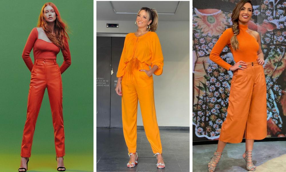 Famosas vestem look laranja (Foto: Instagram/Reprodução)