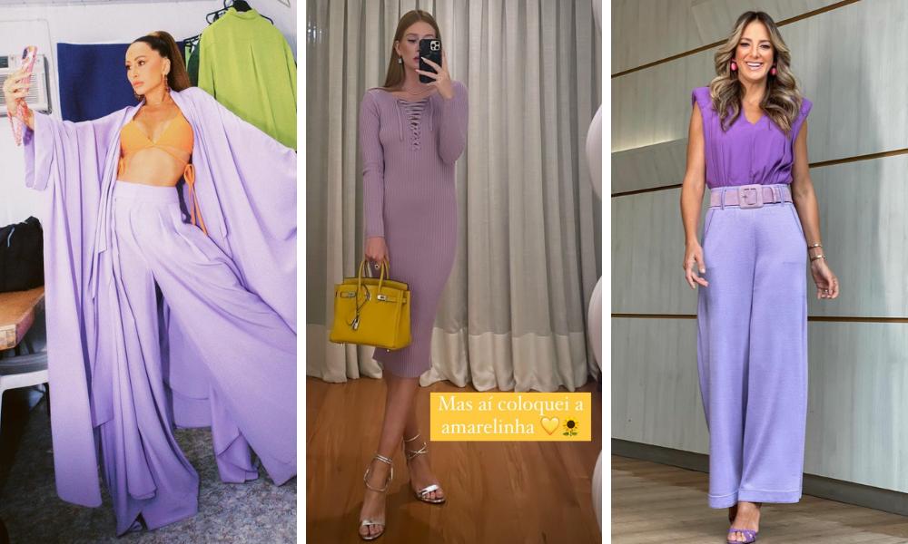 Famosas de look lilás (Fotos: Instagram/Reprodução)
